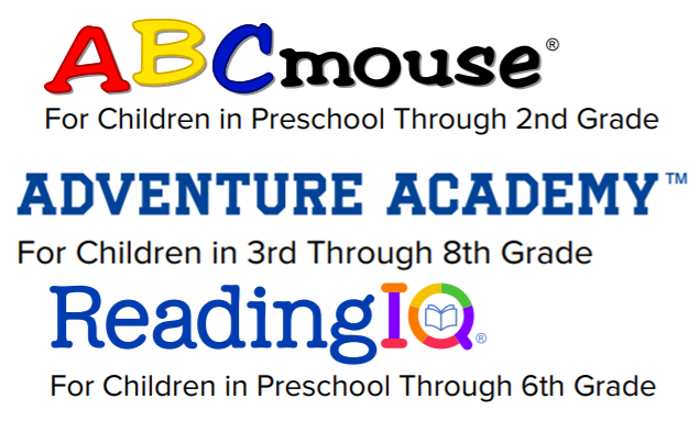 ABC Mouse/Adventure Academy/Reading IQ